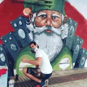 Graffiti comercial en Cáceres - Mural profesional