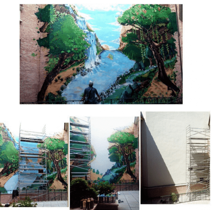 Graffiti en muro de 100 metros cuadrados