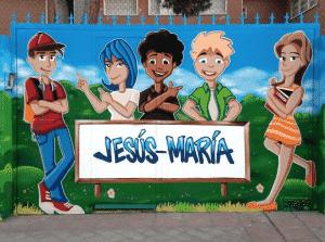 Graffiti infantil - Graffiti para colegio Jesús María