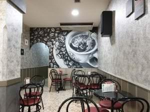Graffiti comercial en Granada - Cafetería la espiga – Decoración de interior