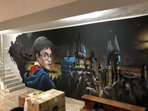 Graffiti Comercial en Lorca - Decoracion Harry Potter