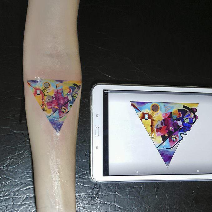 Tatuaje Color: Azul de Kandinsky