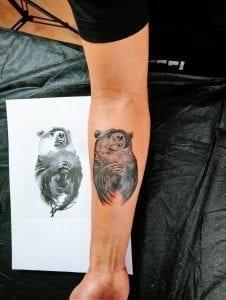 Tattoos Osos - Tauaje de un Oso en el antebrazo