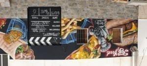 Graffiti comercial en Almeria - D'cine fastfood