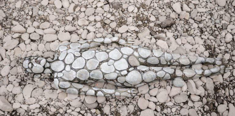 Body Painting efecto Piedras