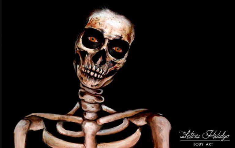 Body painting esqueleto