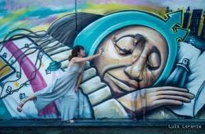 Graffiti comercial en Zaragoza - Body painting graffiti Zaragoza