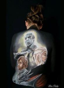 Body painting en Zaragoza - Juego de Tronos Body Painting – Games of Thrones
