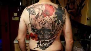 Estudios de Tatuajes en Barcelona - Tatuaje espalda completa – Tattoo Wally