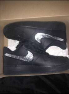 Custom Sneakers - Af1 silver