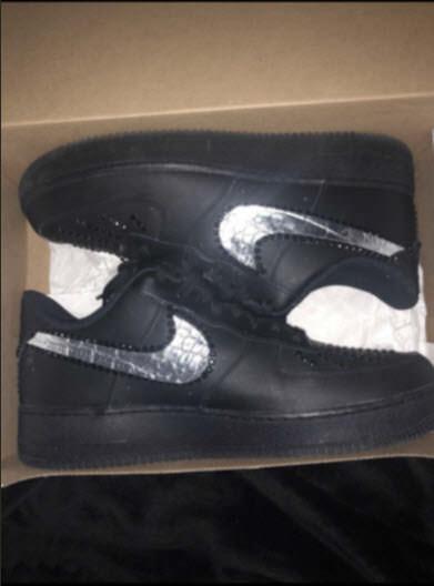 Customización de zapatillas: Af1 silver
