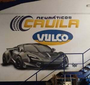 Graffiti comercial en Córdoba - Graffiti comercial decorativo garaje