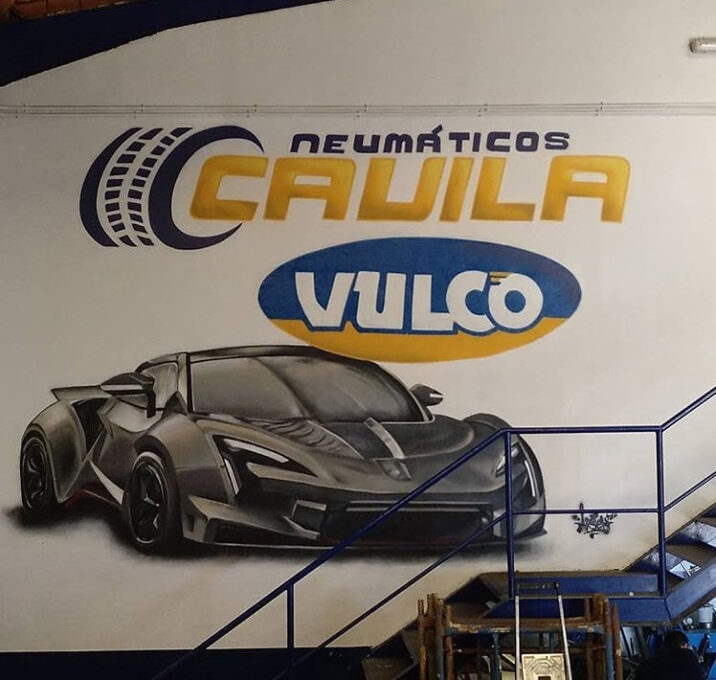 Graffiti comercial decorativo garaje