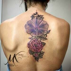 Tatuajes de flores - Flores del recuerdo
