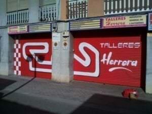 Graffiti locales comerciales - Mural para un taller mecánico