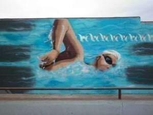 Graffitis de deportes - Graffiti natación