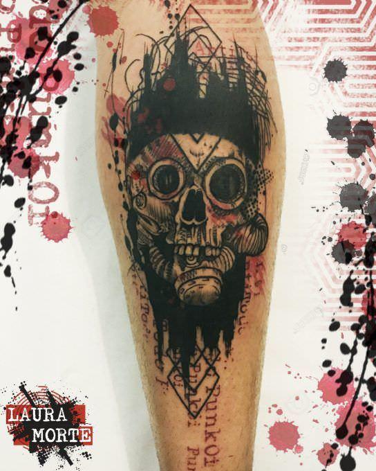 Tatuaje Calavera Punki