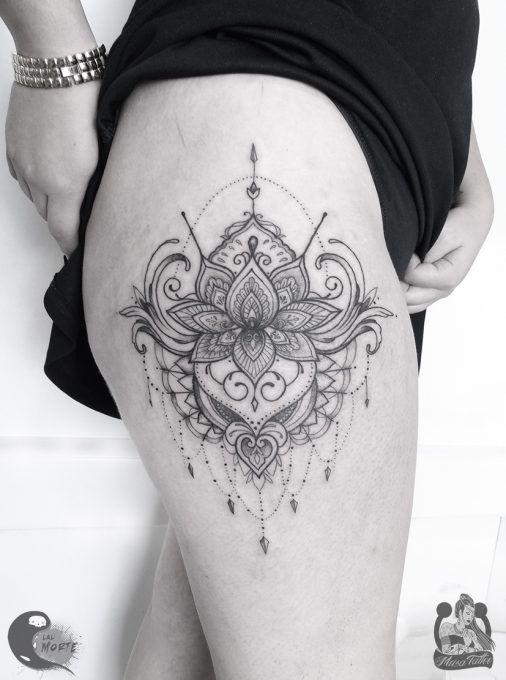 Tatuaje Mandala Cadera