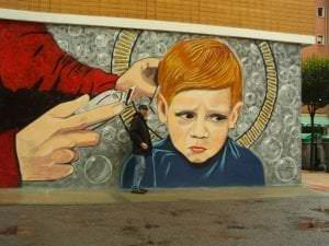 Graffiti infantil - Peluquería Baracaldo