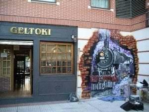 Graffiti comercial en Bilbao - Grafiti estación Sondika