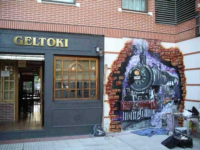 Grafiti estación Sondika