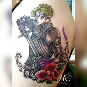 Tattoos de Juego de Tronos - Tatuaje Brienne of Tarth – Juego de Tronos