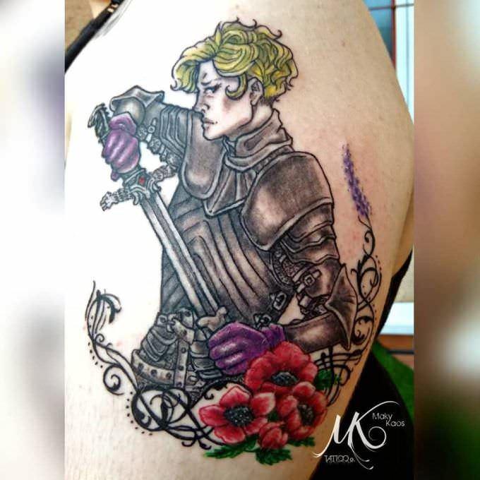 Tattoo Color-Brienne of Tarth – Juego de Tronos-Maky Kaos