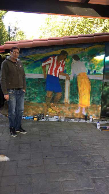Grafiti fútbol  Arrieta  Avelina y Pichichi