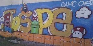 Graffiti mural - Mario Bross Mural
