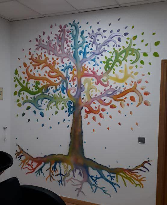 Mural árbol de la vida