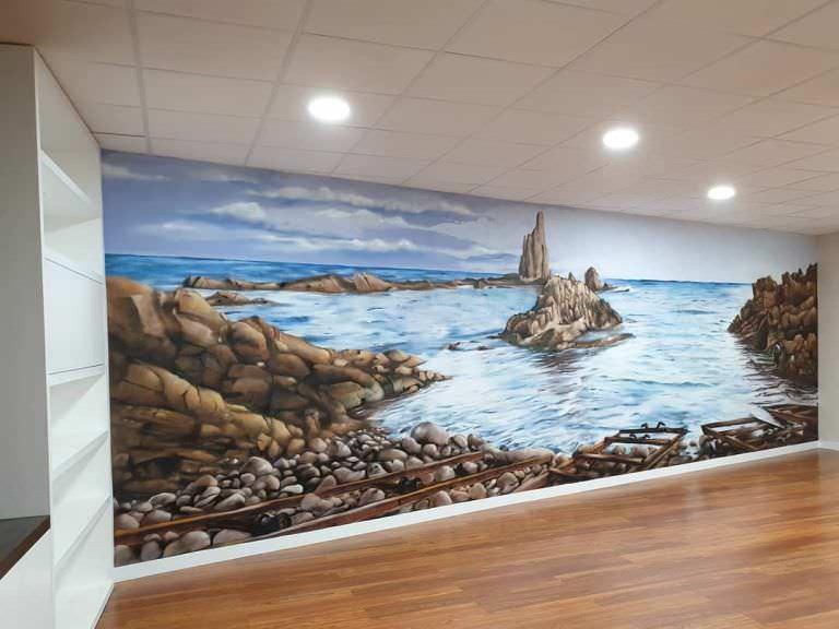 Mural paisaje: Arrecife de las sirenas