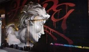 Graffiti profesional - Mural para Arte y tinta Tattoo estudio