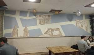 Graffiti comercial en Pamplona - Bar Restaurante los troncos