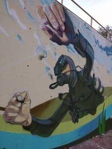 Graffiti mural - Proyecto Ebromural