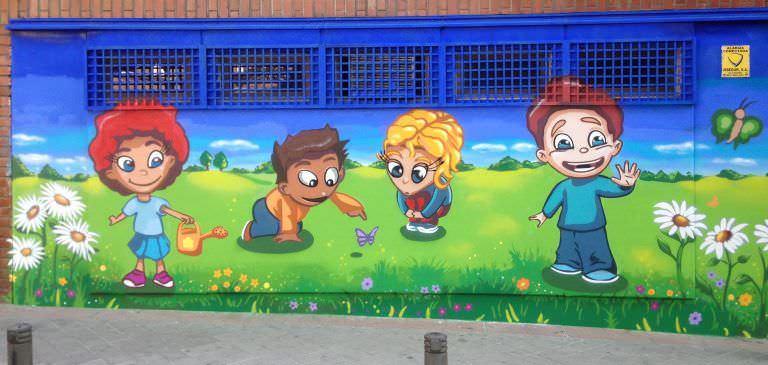 Graffiti centro infantil: Como peques!