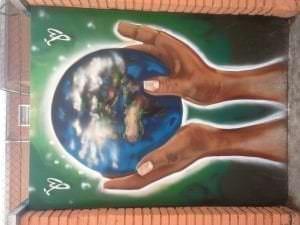 Graffiteros en Madrid - Cuida el mundo que tienes en tus manos