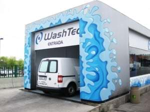 Graffiti comercial en Málaga - Graffiti gasolinera