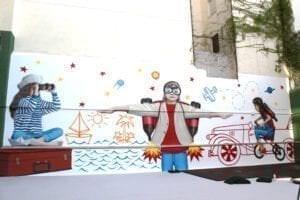 Graffiti comercial en Málaga - Mural en colegio