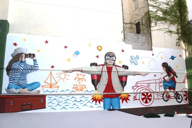 Mural para un colegio de Madrid