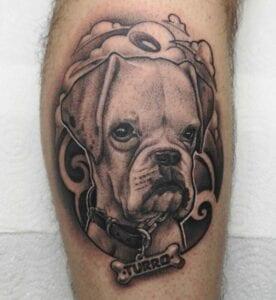 Tatuajes de perros - Tattoo en Mallorca: perro bulldog