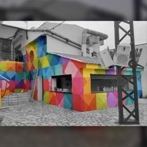 Graffiti mural - DISCOTECA INDIANA GARDEN