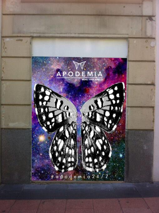 Graffiti tienda Apodemia
