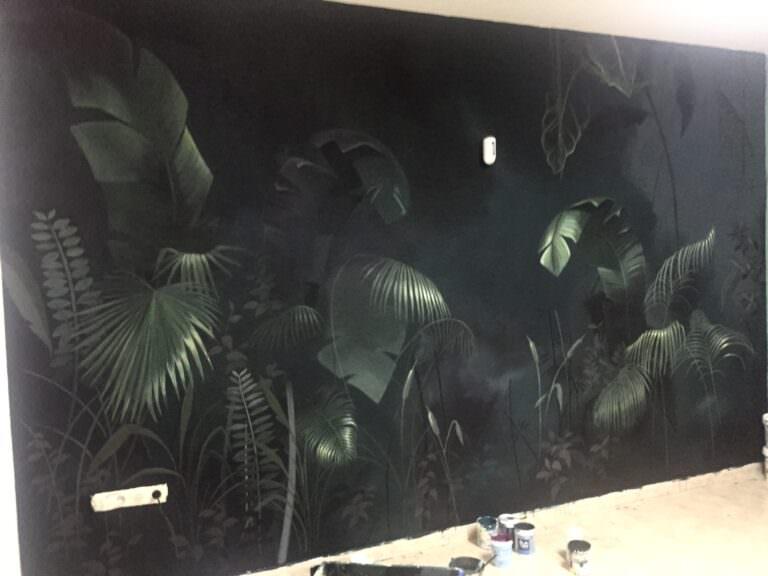 Decoración Mural con temática selva