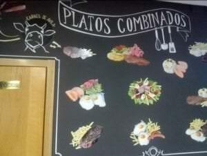 Rotulación a mano en Madrid - Rotulación para bares y restaurantes