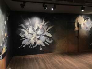 Rotulación a mano en Madrid - Decoración de interior con Mural