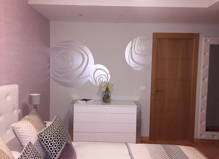 Pintura Mural Decorativa para habitación de Hotel