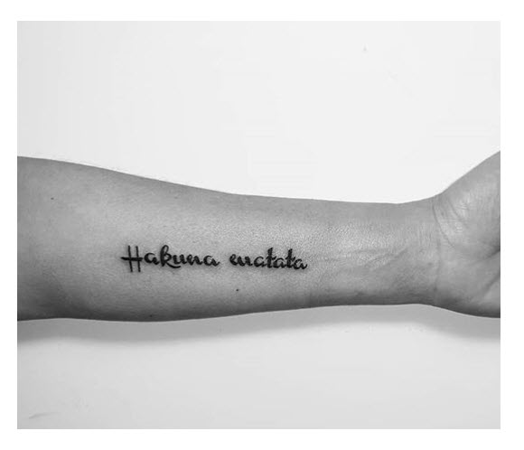 Tatuajes de frase del Rey León