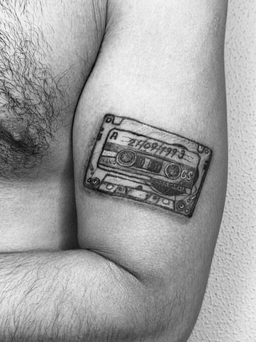 Tatuaje cinta de Casette