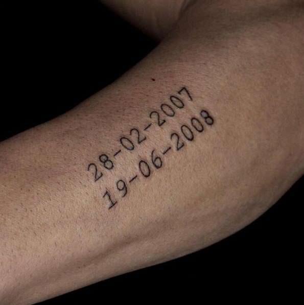 Tatuaje de fecha
