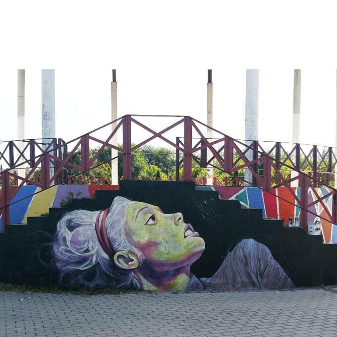 Graffiti decorativo parque